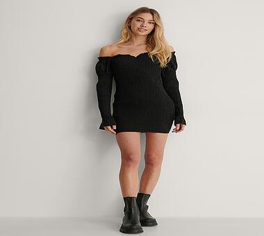 NAKD Kleid Lisa-Marie Schiffner x NA-KD schwarz | 34